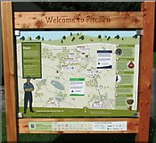 NO2603 : Information board at Pitcairn Outdoor Centre, Glenrothes by Bill Kasman