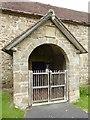 SO6279 : Porch of Silvington church by Philip Halling