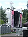 TA0389 : Temporary stage, open air theatre, Scarborough by Graham Robson