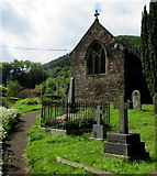 SO2813 : Northeast side of St Faith's Parish Church Llanfoist by Jaggery