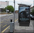 ST3187 : Dunkirk advert on a Kingsway bus shelter, Newport by Jaggery