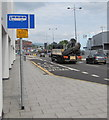 ST3188 : Kingsway bus lane and bus lane sign, Newport by Jaggery