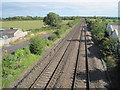ST3251 : Brent Knoll railway station (site), Somerset by Nigel Thompson