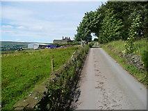 SE0424 : Sowerby Bridge Bridleway 35 on the driveway to West Field Farm by Humphrey Bolton