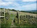 SE0524 : Gate on Sowerby Bridge FP34 by Humphrey Bolton