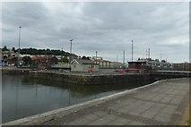 ST5772 : Floating harbour entrance by DS Pugh