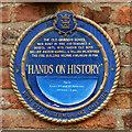 TA0928 : Merchant Adventurers' Hall/Hull Grammar School Hands on History Plaque by David Dixon