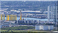 J3677 : Wind turbine components, Belfast by Rossographer