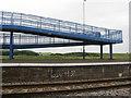 NO4420 : Footbridge at Leuchars station by M J Richardson