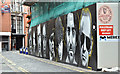 J3474 : Builder's hoarding and street art, Belfast (July 2017) by Albert Bridge