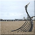 TQ8109 : Sculpture on Pelham Beach by Oast House Archive