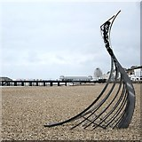 TQ8109 : Sculpture on Pelham Beach by Oast House Archive