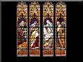 SE7428 : Howden Minster Great West Window (2) by David Dixon