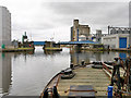 SE7422 : Approaching Goole (South Dock) Bridge by David Dixon
