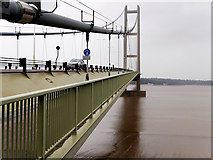 TA0223 : Humber Bridge, Southern Tower by David Dixon