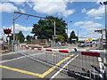TQ3697 : Green Street level crossing alongside Brimsdown station by Marathon