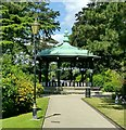 SK3448 : Belper River Gardens, the bandstand by Alan Murray-Rust