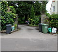 ST6783 : Wheelie bins at the entrance to Dean Lodge West, High Street, Iron Acton by Jaggery