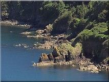SX9364 : Coast near Black Head by Derek Harper