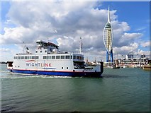 SZ6299 : The Wight Sun and the Spinnaker Tower by Steve Daniels