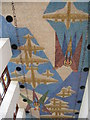 TL4059 : Mosaic ceiling of the Madingley Memorial Chapel by M J Richardson