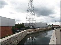 J3674 : Conn's Water above the Upper Newtownards Road Bridge by Eric Jones