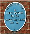 SP0786 : Blue Plaque: Barry Jackson by Gerald England