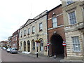TF4509 : The Town Hall and Corn Exchange in Wisbech by Richard Humphrey