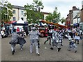 TF4609 : Pig Dyke Molly dancers in Wisbech by Richard Humphrey