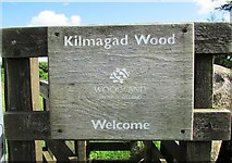 NO1802 : Sign on gate, Kilmagad Wood by Bill Kasman