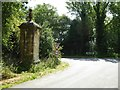 SP2332 : Road junction beside the Four Shire Stone by Philip Halling