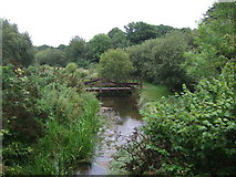 SW5932 : Foot bridge over the River Hayle, Townshend by JThomas