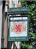 TQ3081 : Sign for The Old Red Lion, High Holborn / Red Lion Street, WC1 by Mike Quinn