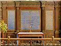 SU5332 : Reredos, St Mary's Church Avington by David Dixon