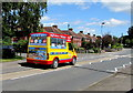 ST6979 : Ice cream van in Westerleigh  by Jaggery
