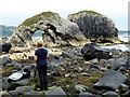 D0244 : Photographing an arched rock, Ballintoy by Kenneth  Allen