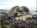 D0244 : Boulders and large arched rock, Ballintoy by Kenneth  Allen