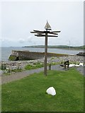 NX3343 : Direction Sign at Port William Harbour by G Laird