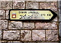 SY0080 : Dinan (France) direction and distance sign, Exmouth by Jaggery