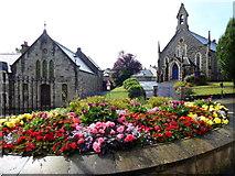 H4472 : Trinity Hall and Presbyterian Church, Omagh by Kenneth  Allen