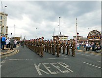 SD3036 : Lions of England granted Freedom of Entry to Blackpool by Gerald England