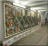 NS4864 : Mural at Paisley Gilmour Street railway station by Thomas Nugent