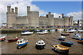 SH4762 : Caernarfon Castle and the River Seiont by Jeff Buck