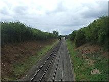 SO9262 : Railway towards Cheltenham by JThomas