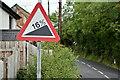 "J3889 : ""Steep hill"" sign, Carrickfergus (July 2017) by Albert Bridge"