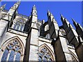 TQ1906 : Flying buttresses, Lancing College chapel by Patrick Roper