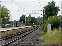 SK0394 : Glossop railway station by Philip Platt