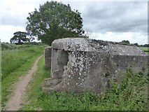 ST3029 : Remains of a pillbox by the canal by David Smith