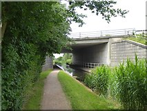 ST2625 : M5 bridge over Bridgwater and Taunton Canal by David Smith
