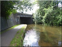 ST2325 : Railway bridge over Bridgwater and Taunton Canal by David Smith